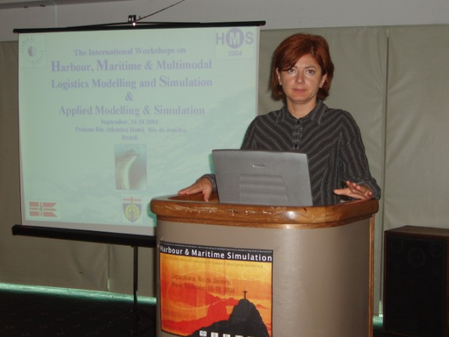 Marina Massei at HMS2004 Opening, Rio de Janeiro