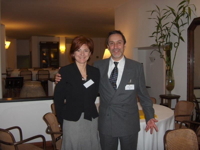 Marina Massei and Sergio Junco during first edition of I3M