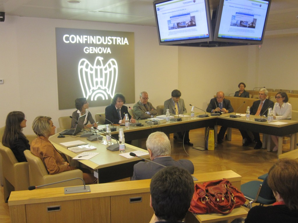 Prof.Bruzzone in Genoa Confindustria for the opening of the Master in industrial Plants